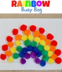 PomPom Rainbow Busy Bag