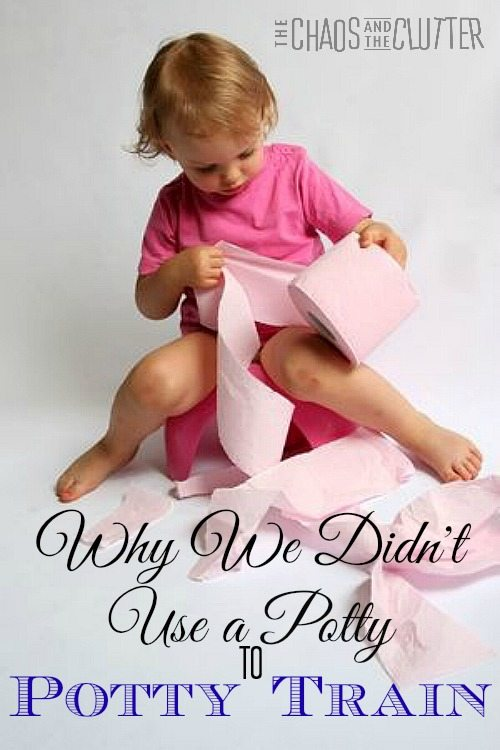 Why We Didn't Use a Potty to Potty Train