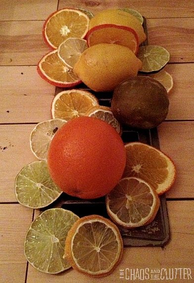 drying citrus