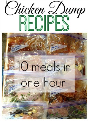 Chicken Dump Recipes - 10 meals in just one hour