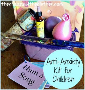 How to Create an Anti-Anxiety Kit for Your Child including free printable relaxation prompts