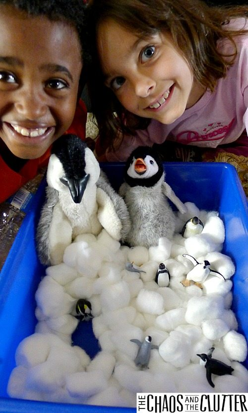 penguin sensory learning activity for toddlers