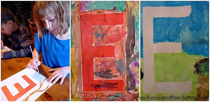 letter E artwork