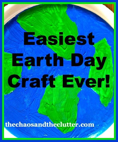 Easiest Earth Day Craft Ever But It Does Help Encourage Kids To Think Of Ways They