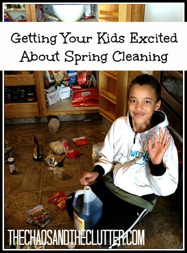 getting your kids excited about spring cleaning