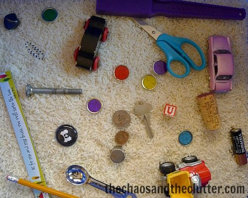 magnet sensory bin