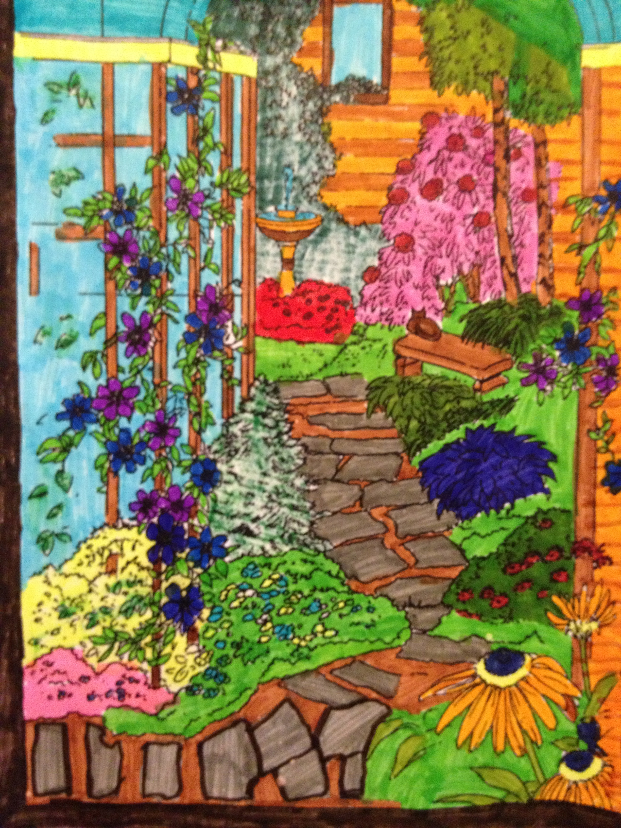 82 Secret Garden Coloring Book Print