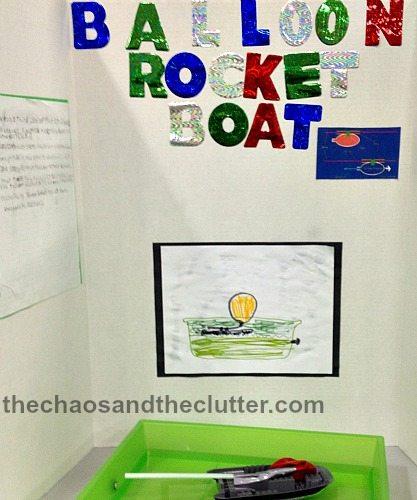 Water Bottle Rocket Science Project: Balloon Rocket Boat