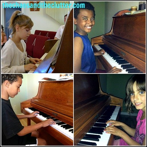 free piano lessons 4 kids collage