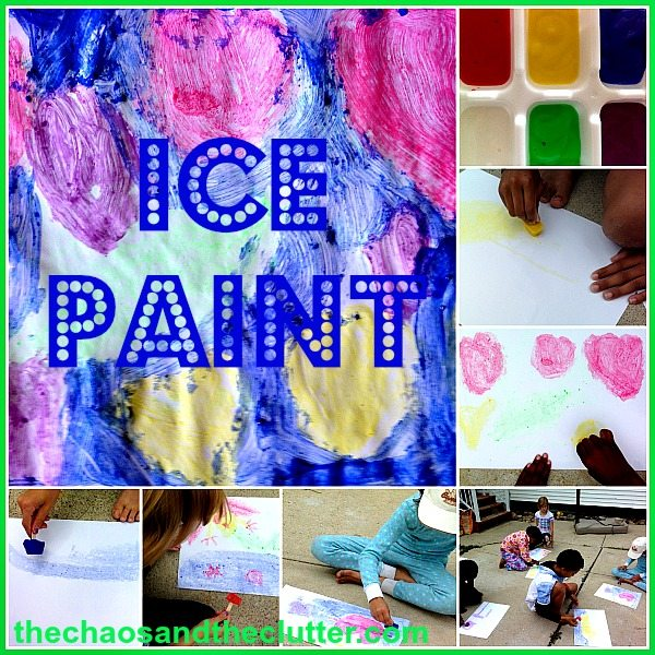 Ice Paint - a great summer activity!