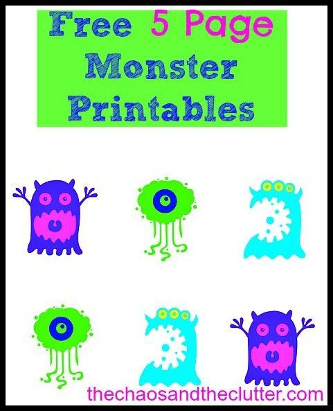 Monster Printables Free