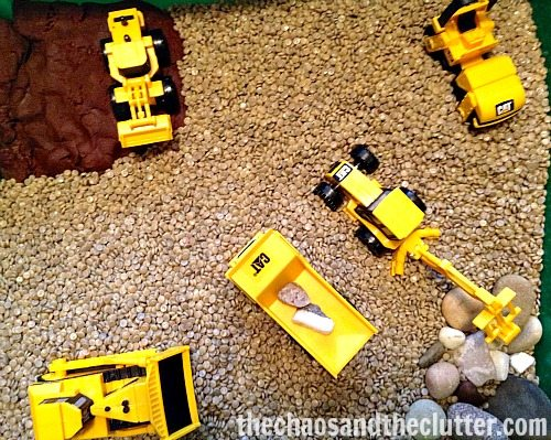 Construction Sensory Bin #2