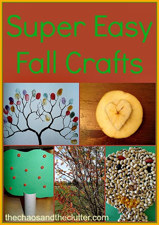 Super Easy Fall Crafts with household items