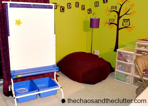 classroom view - The Chaos and The Clutter