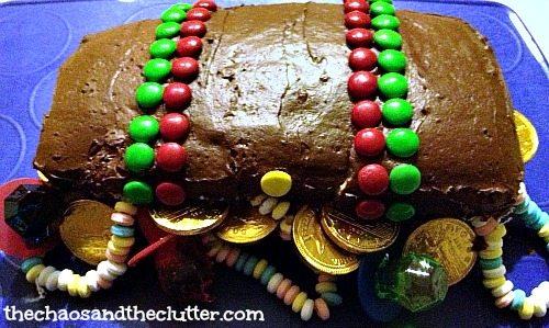 easy pirate treasure chest cake