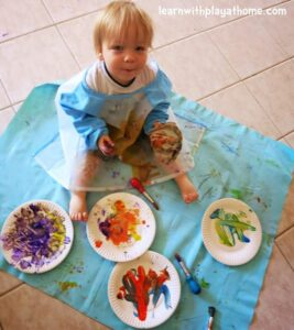 paper plate painting with toddlers