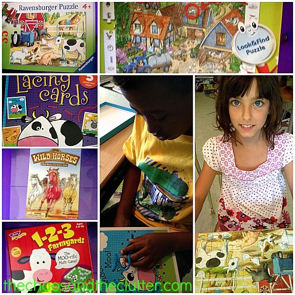 Farm theme workbox activities