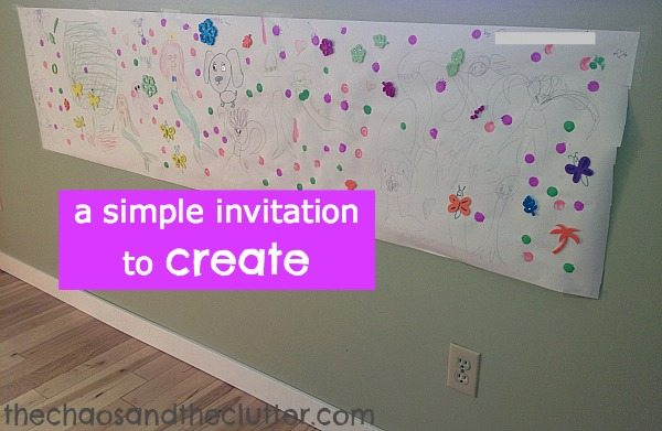 a simple invitation to create