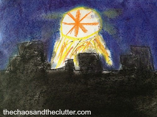 Christmas Star in Chalk Pastels