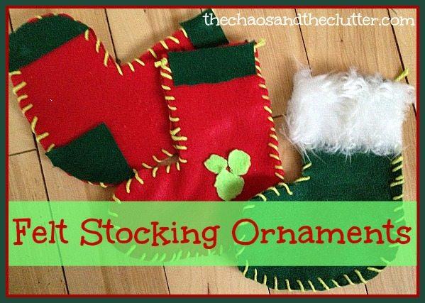 Felt Stocking Ornaments
