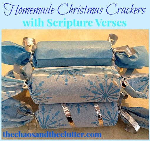 Homemade Christmas Crackers with Scripture Verses