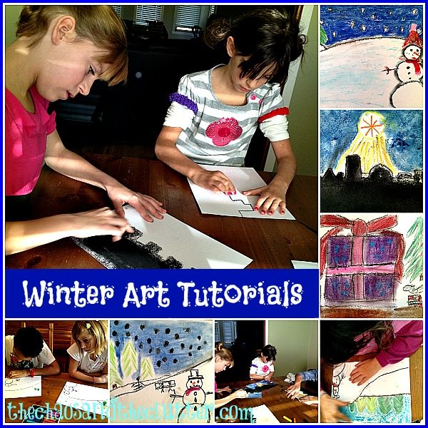 Winter Art Tutorials at The Chaos and the Clutter