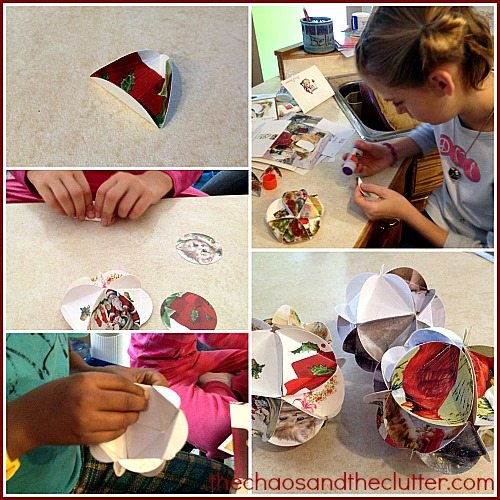 making Christmas card ornaments