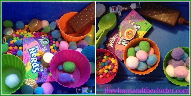 Candy Sensory Bin Play