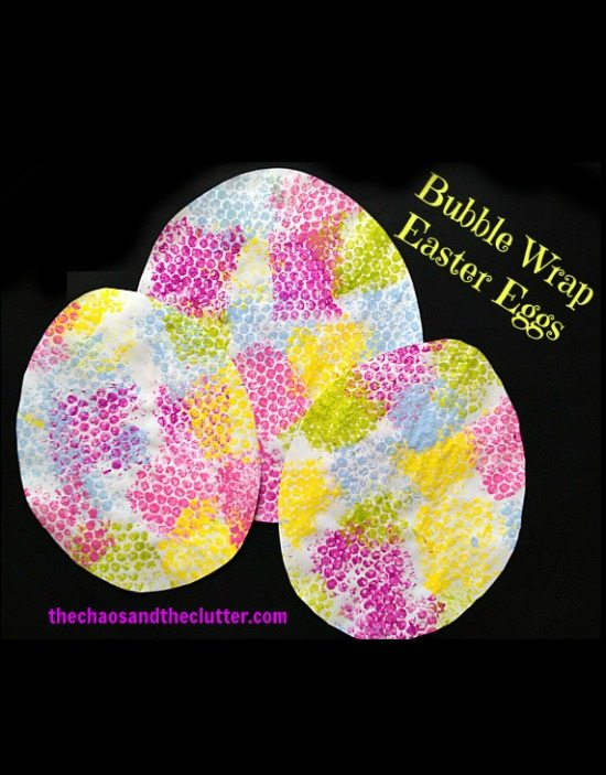 Bubble Wrap Easter Eggs