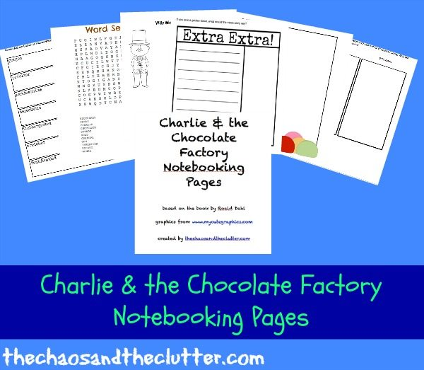 Charlie & the Chocolate Factory Printable Notebooking Pages Pack