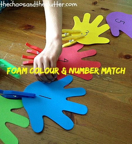 Foam Colour & Number Match