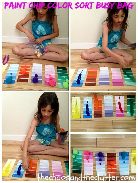 Paint Chip Color Sort Busy Bag