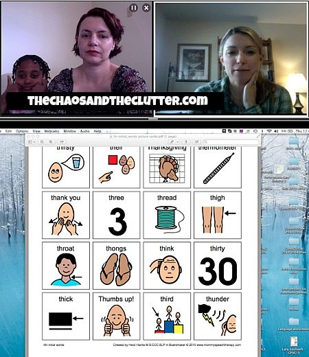 online speech therapy with visual