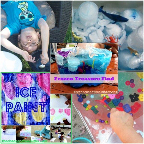 Outdoor Ice Sensory Activities