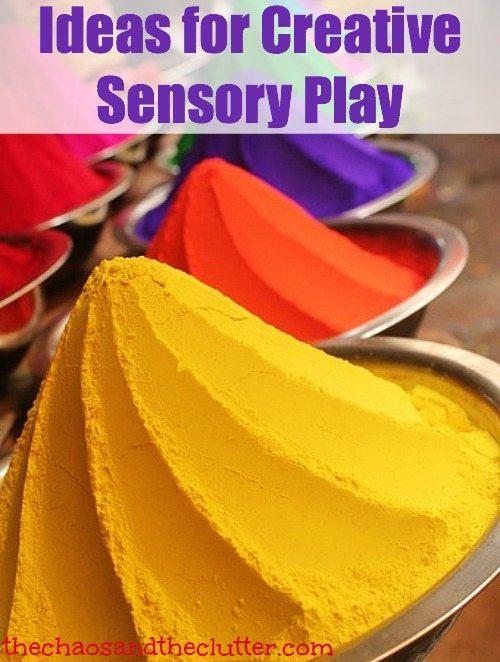 Ideas for Creative Sensory Play for all sensory inputs
