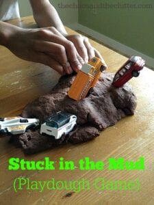 Stuck in the Mud Playdough Game