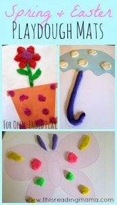 Spring and Easter printable playdough mats