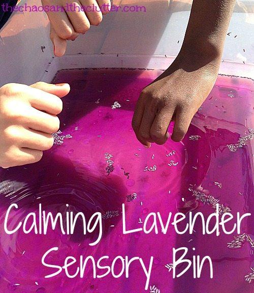 Calming Lavender Sensory Bin