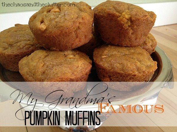 My Grandma's Famous Pumpkin Muffins