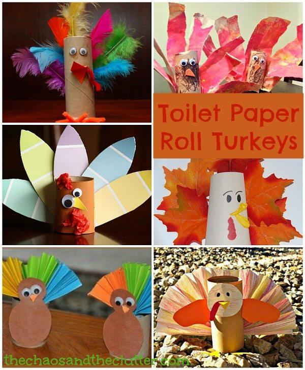 Toilet Paper Roll Turkeys