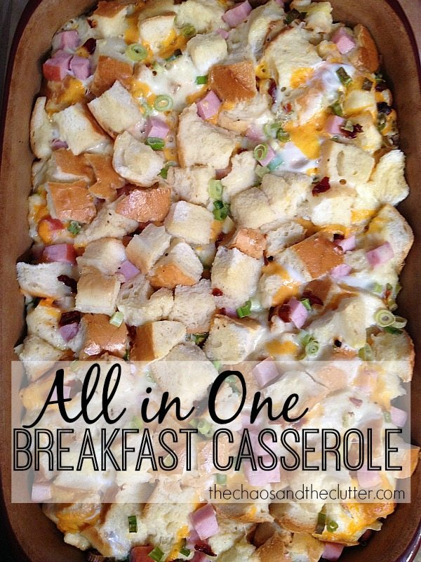 All in One Make Ahead Breakfast Casserole