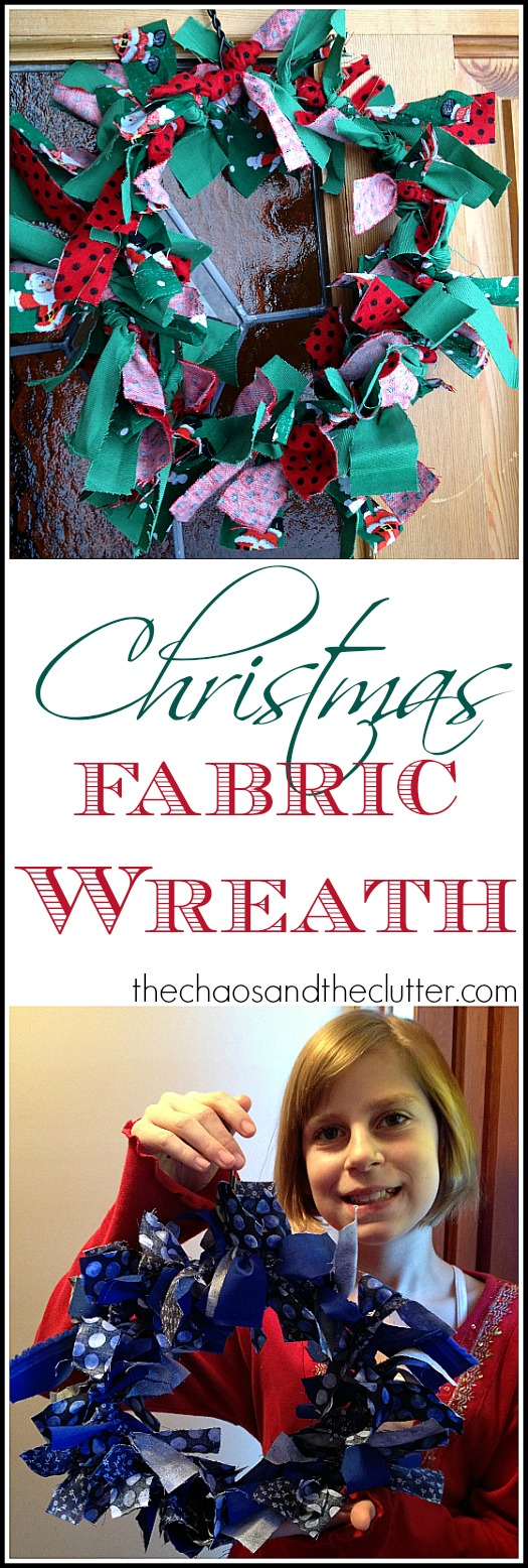 Christmas Fabric Wreath