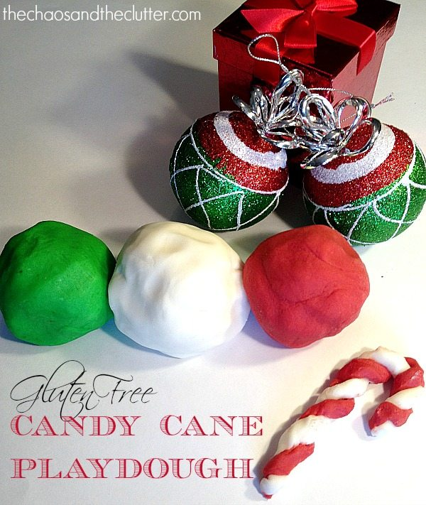 Gluten Free Candy Cane Playdough