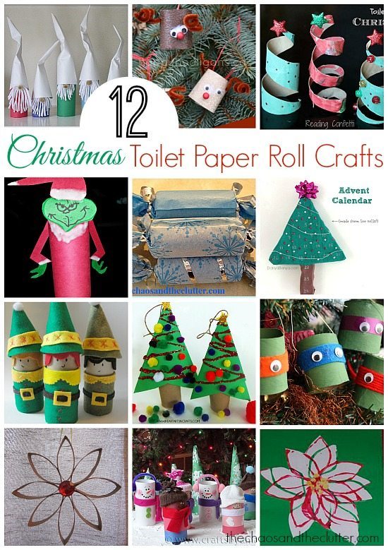 12 Christmas Toilet Paper Roll Crafts. }