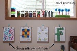 Organizing Preschool at Home