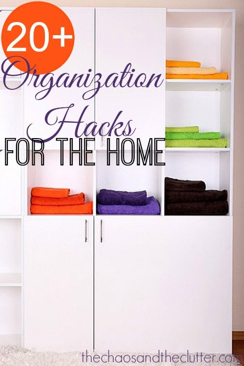 Home organization hacks for Household hacks