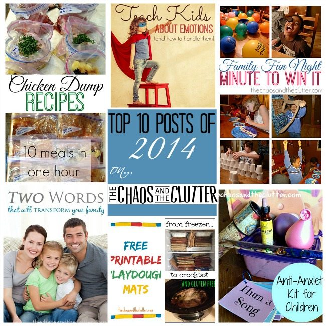 Top 10 Posts of 2014 on The Chaos and The Clutter