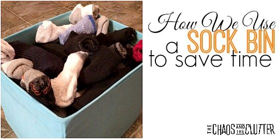 How We Use a Sock Bin to Save Time